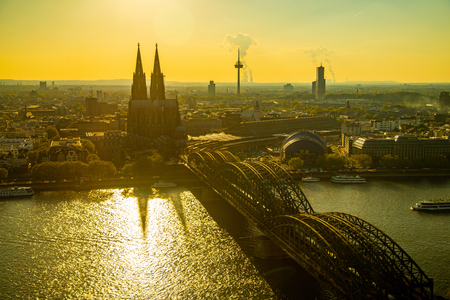 COLOGNE,GERMANY-April 30,2017:Cologne cathedral church in Germany. 