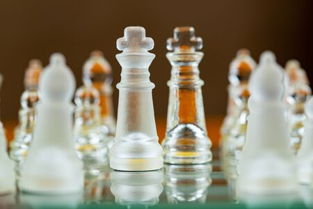 Chess king game of success challenge strategy improvement money glowing