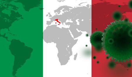 Corona virus symptoms or Covid - 19 dangerous in Italy