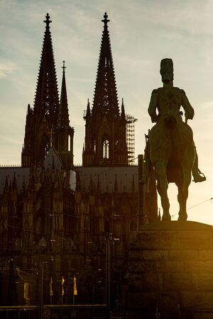 Cologne cathedral and river bridge landmark ,Garmany Standard-Bild