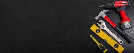 Tool equipment for DIY hadware for your design. Standard-Bild