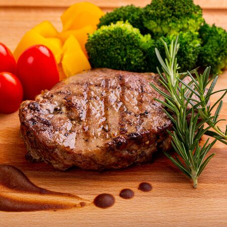 Barbecue pork steak grill for your lunch.