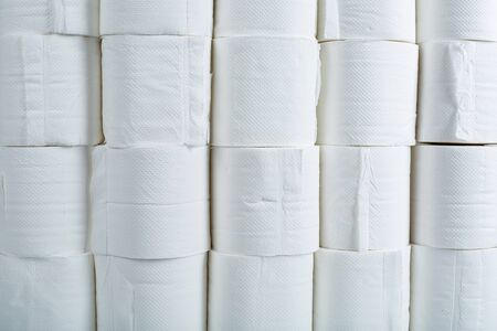 Roll toilet paper for clean your covid-19 Standard-Bild