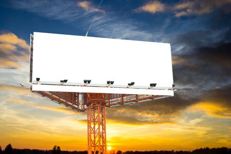 Advertising billboard frame for your add your marketingand communication with twilight time.