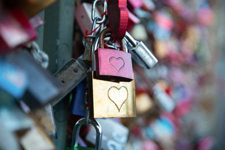 Love lock on Cologne bridge  Germany