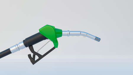 3D rendering copare between electric versus gasoline car with concept oil and new fuel energy. Charger plug for your choice Standard-Bild