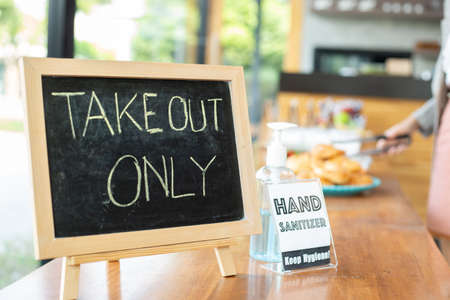 Takeout only for prevent virus and social distancing.Customer take food back home.
