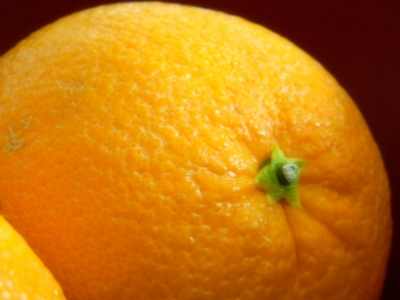 navel orange: closeup of navel orange Stock Photo