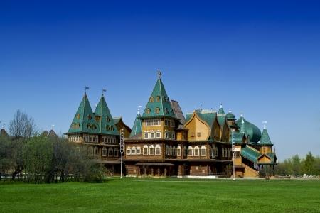 Log Palace in Moscow in Park Kolomenskoye, copy of palace of russian Tsar Aleksey Mikhailovich Romanov, 17th century  Stock Photo - 21900701