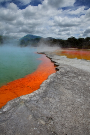 Bubbling Thermal Spring Stock Photo