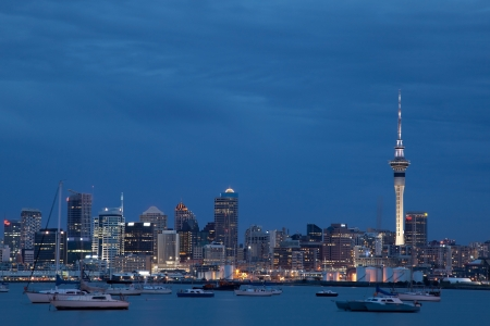 Auckland Skyline in the evening