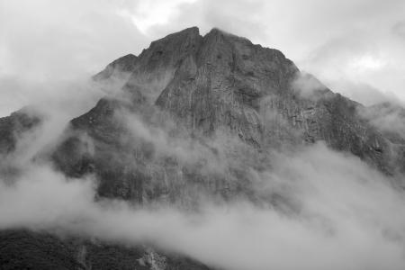 Milford Sound Peak Stock Photo