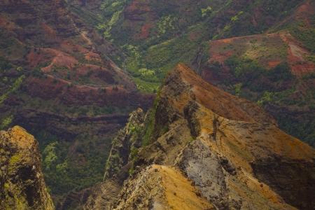 waimea canyon state park: Waimea Canyon - Grand Canyon of the Pacific. On the island of Kauai in Hawaii.