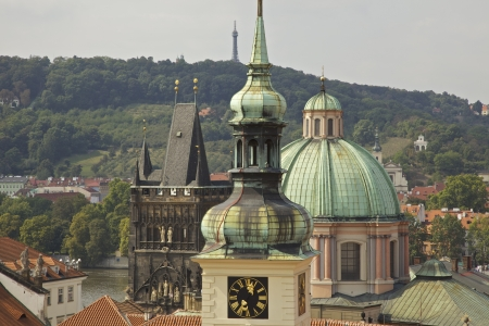 View of the rooftops of Prague