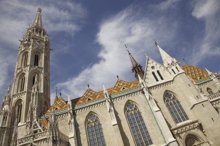Matthias church at the Buda castle. Budapest, Hungry