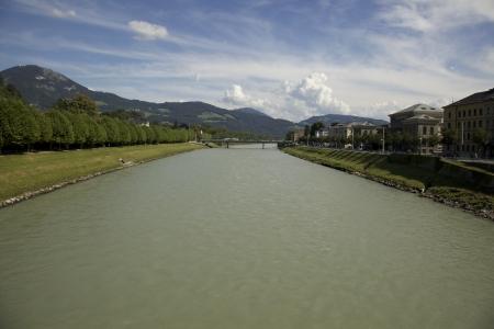 The Danube running through Salzburg Stock Photo