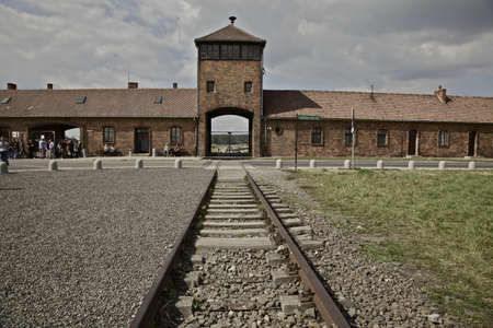 Main entrance to Auschwitz - Birkenau