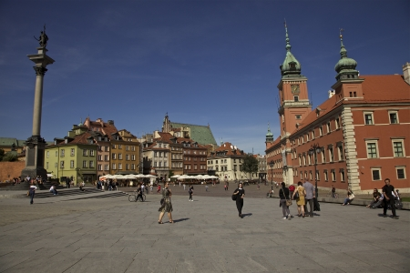Warsaw Old Town on a sunny day