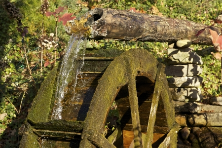 Water Wheel with flowing water