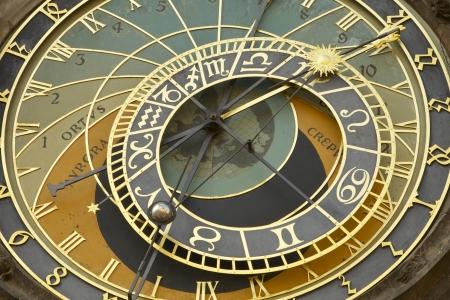 sun dial: Old style sun dial in Prague