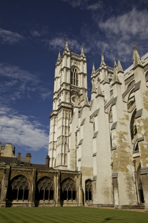 Westminster Abbey from the interior on a beautiful day Stock Photo