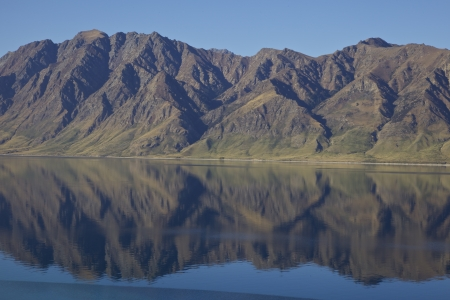 Lake Hawea on the South Island of New Zealand Near Wanaka and Queenstown Stock Photo - 17208088