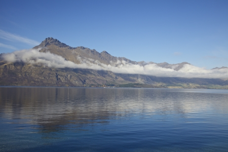Lake Hawea on the South Island of New Zealand Near Wanaka and Queenstown Stock Photo - 17208089