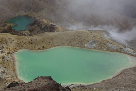 The stunning emerald pool along the Tongariro Crossing The north island of New Zealand