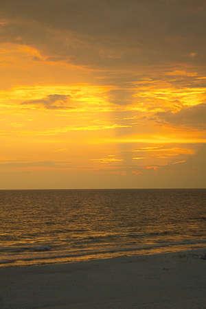 panama city beach: Spiaggia al tramonto