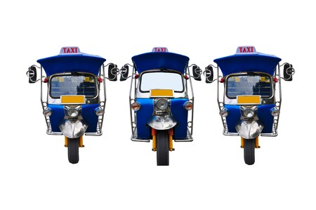 3 tuk tuk tricycles Stock Photo - 7515901