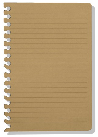 brown note paper Stock Photo - 7661380