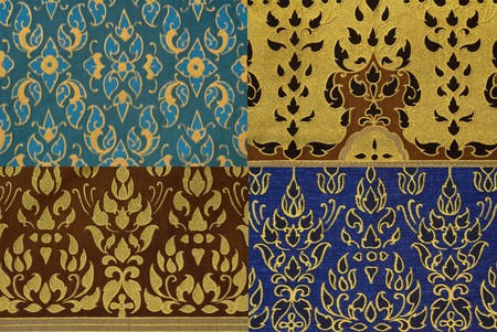 thailand fabrics: Thai print cloth texture