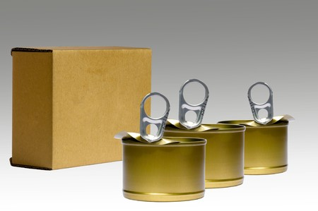 isolate cans and box Stock Photo - 7749411