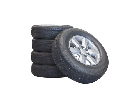isolate tire on white background photo