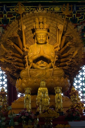 Goddess of mercy in Kammalawat Dragon temple,Thailand Stock Photo - 8144453