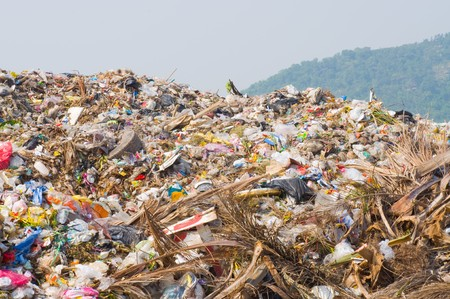 dump yard: garbage heap