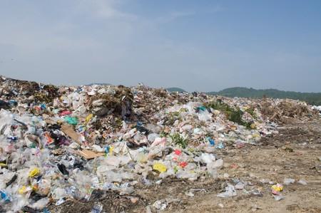 garbage dump: garbage heap
