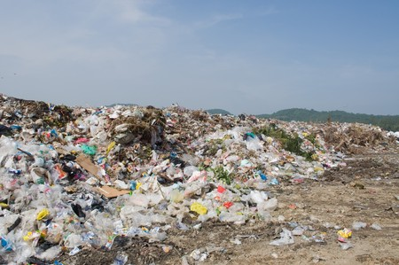 basura: mont�n de basura
