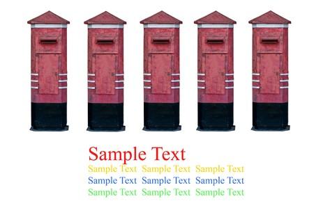 isolate postbox on white background photo