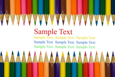 isolated color pencils on white background Stock Photo