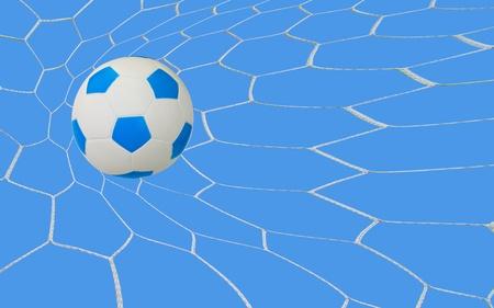 kick soccer goal under the blue sky photo
