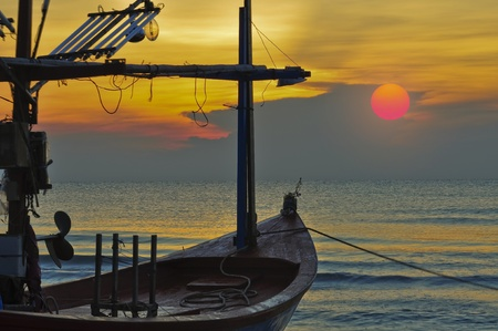sunrise in Hua Hin Thailand Stock Photo - 8554641