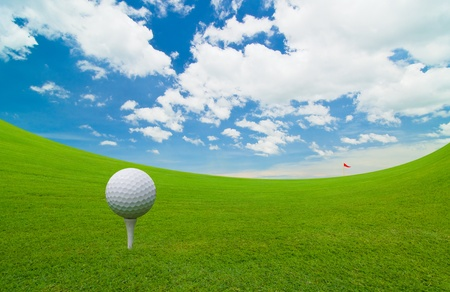 golf course under the blue sky