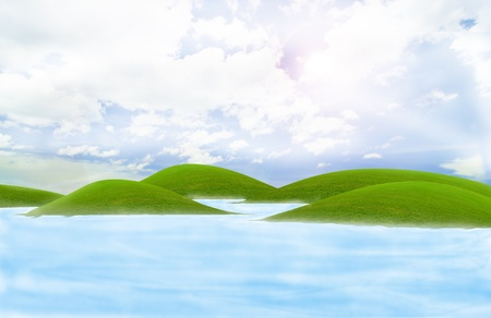 green island in the sea under the bluesky Stock Photo - 9038229