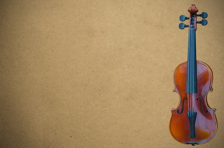 violin on brown background Stock Photo