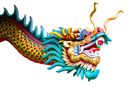 chinese dragon: isol�s dragon chinois sur fond blanc