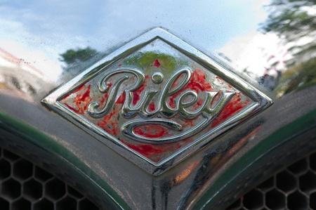 Hua Hin - December 17: Riley Lynx Sprite 1937 logo display in Hua Hin Vintage Car Parade  2011 Sofitel Centara Grand Resort & Villas Hua Hin on December 17, 2011 in Hua Hin, Thailand. Stock Photo - 11580921