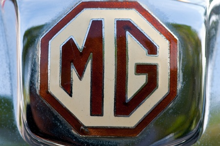 Hua Hin - December 17: Mg Magna L1 Year 1933 logo display in Hua Hin Vintage Car Parade  2011 Sofitel Centara Grand Resort & Villas Hua Hin on December 17, 2011 in Hua Hin, Thailand. Stock Photo - 11580920