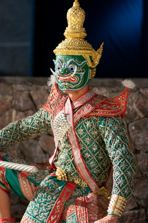 Khon is the most stylised form of Thai dance. It is performed by troupes of non-speaking dancers, the story being told by a chorus at the side of the stage. Choreography follows traditional models rather than attempting to innovate. Most khon performances