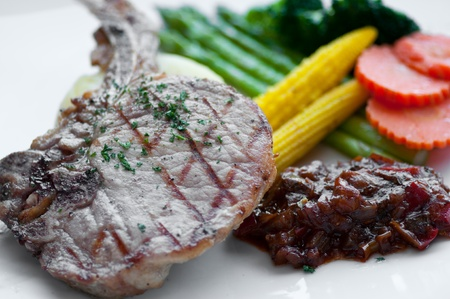 dish of Pork Chop Steak photo